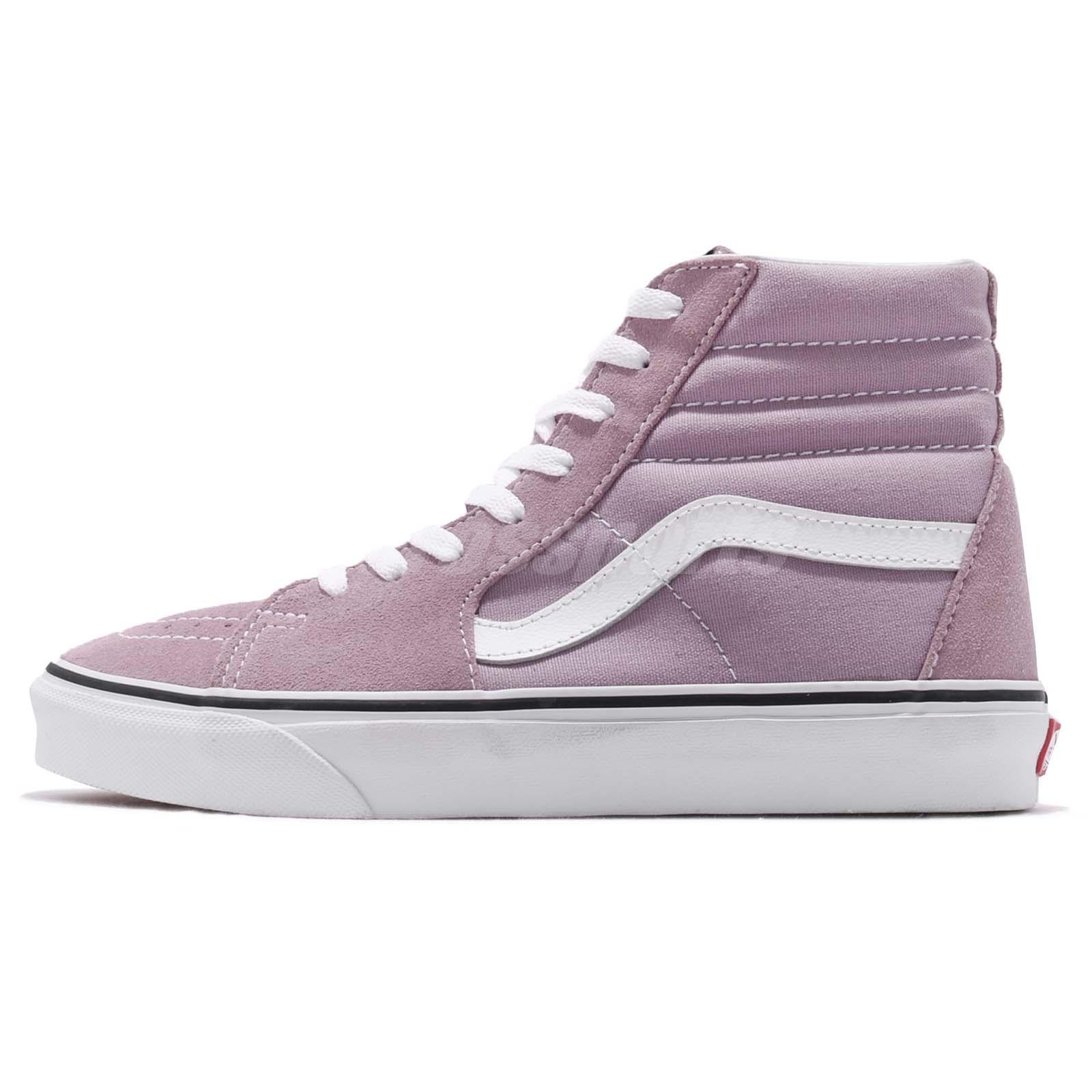 Vans SK8-Hi Sea Fog Purple White Men Skate Boarding Shoes Sneakers 72010619 02bcd4617