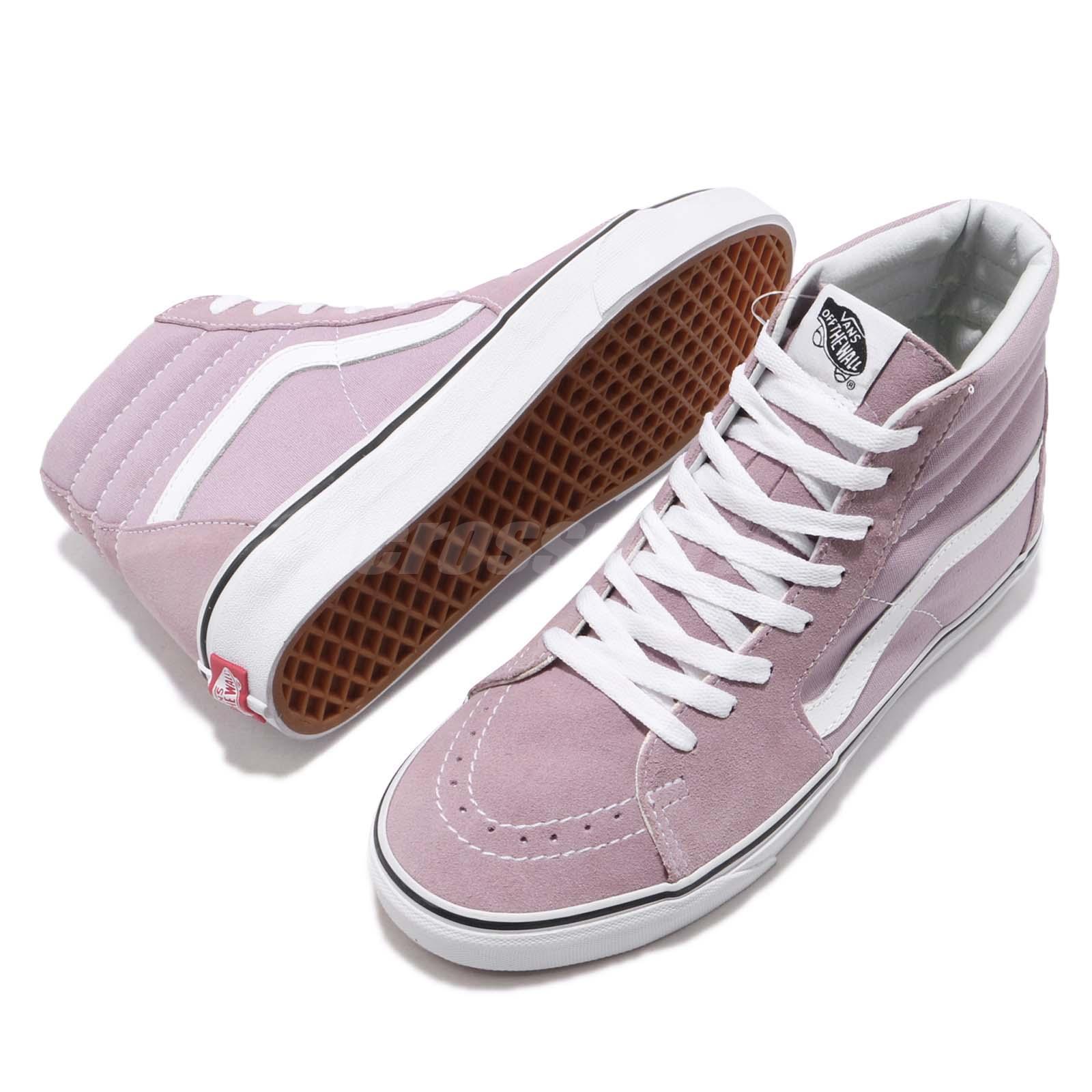 9132ae7858d Vans SK8-Hi Sea Fog Purple White Men Skate Boarding Shoes Sneakers ...
