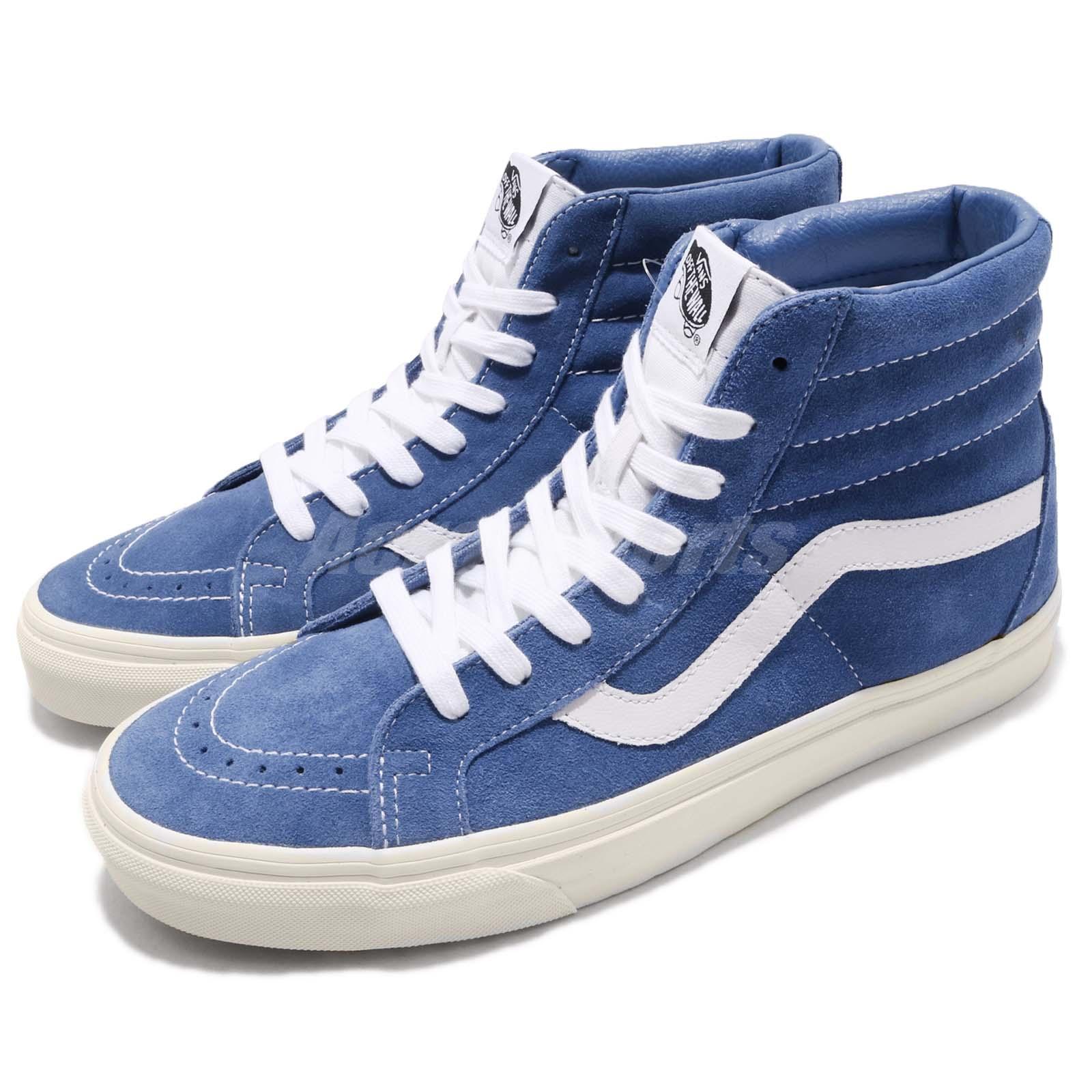 114bc444bbe5 Details about Vans SK8-Hi Reissue Retro Sport Blue White Men Women Casual  Shoes VN0A2XSBORV