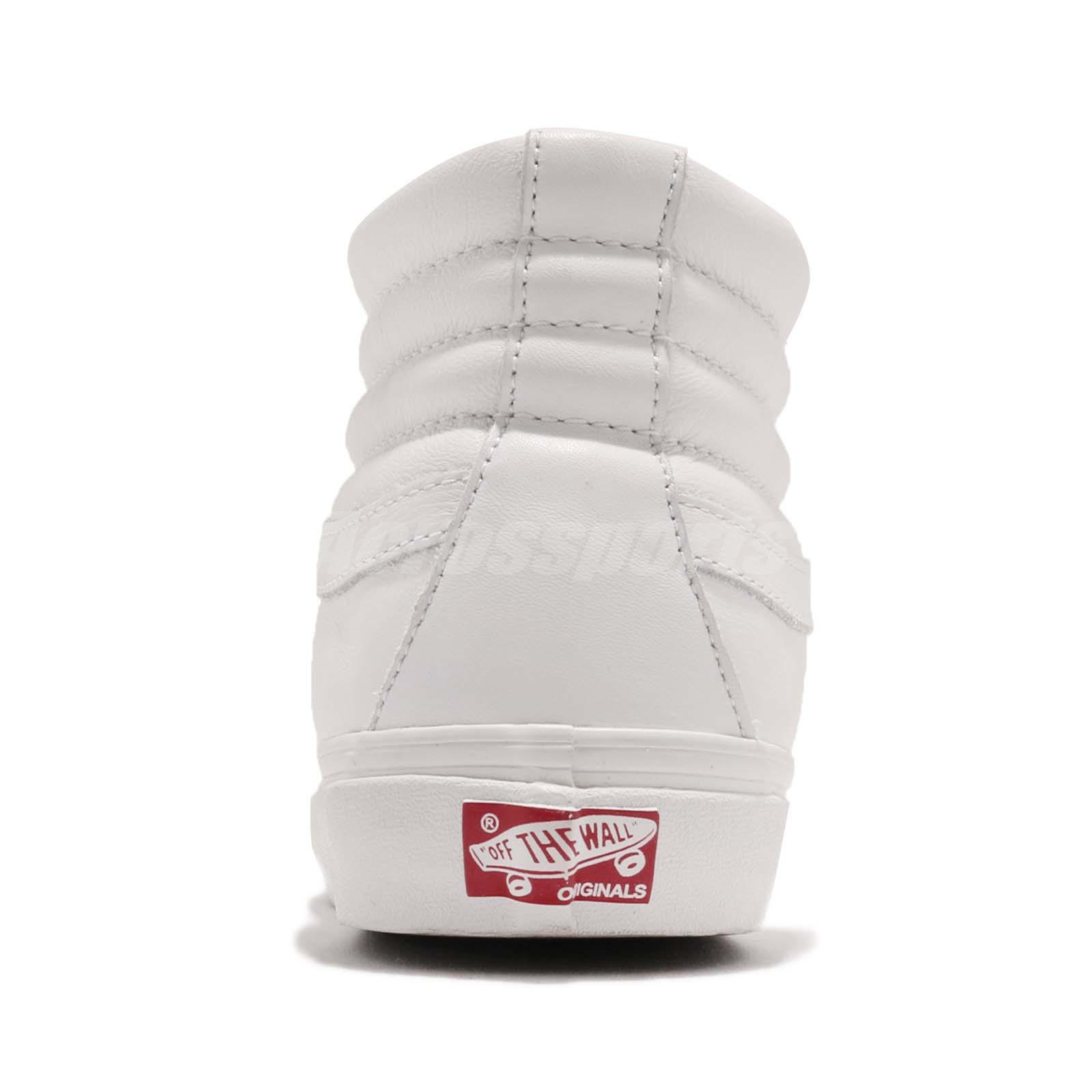 71e2af9a438405 Vans Vault OG Sk8-Hi LX White Leather Men Women Skate Boarding ...
