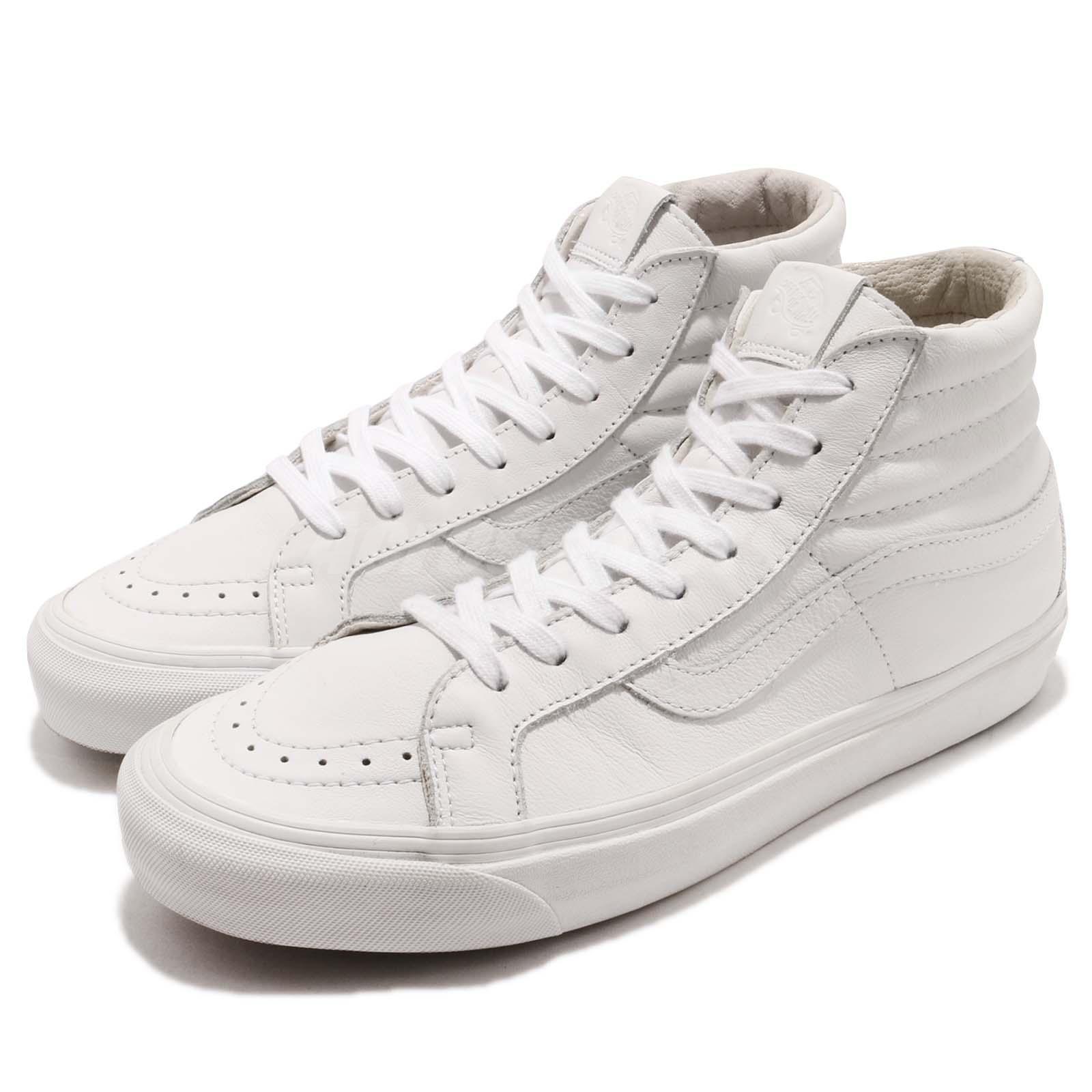 d830ddc2d967 Details about Vans Vault OG Sk8-Hi LX White Leather Men Women Skate  Boarding Sneakers 72070608